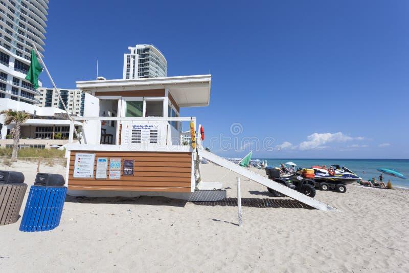 Spiaggia di Hallandale, Florida fotografia stock libera da diritti