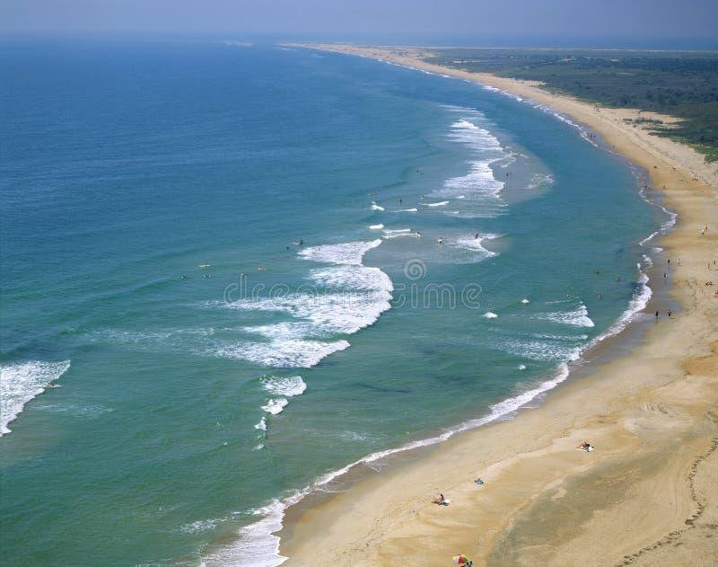Spiaggia di Hatteras del capo, North Carolina fotografia stock libera da diritti
