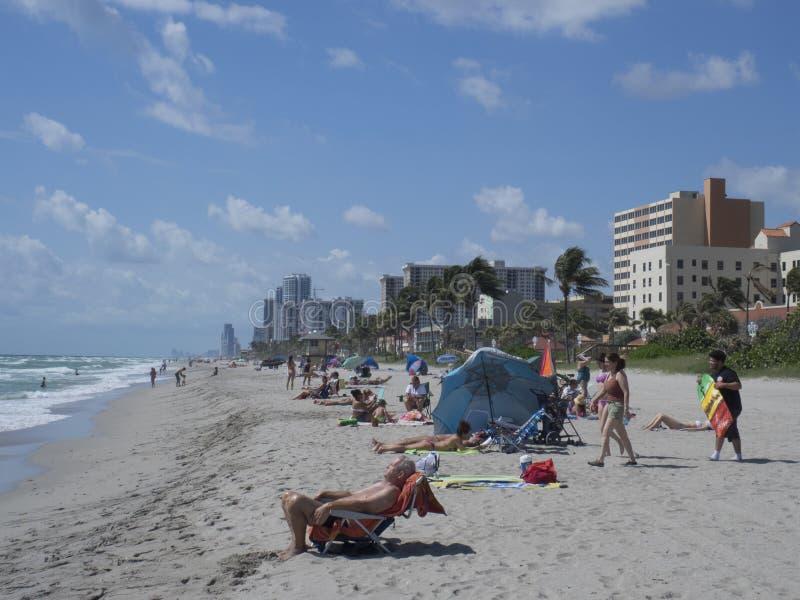Spiaggia di Hollywood, Pembroke Pines fotografie stock