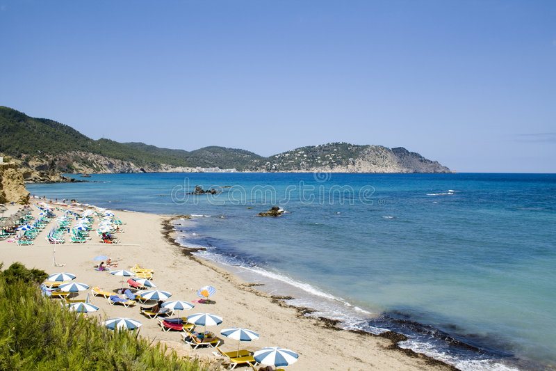 Spiaggia Di Ibiza Fotografia Stock Libera da Diritti