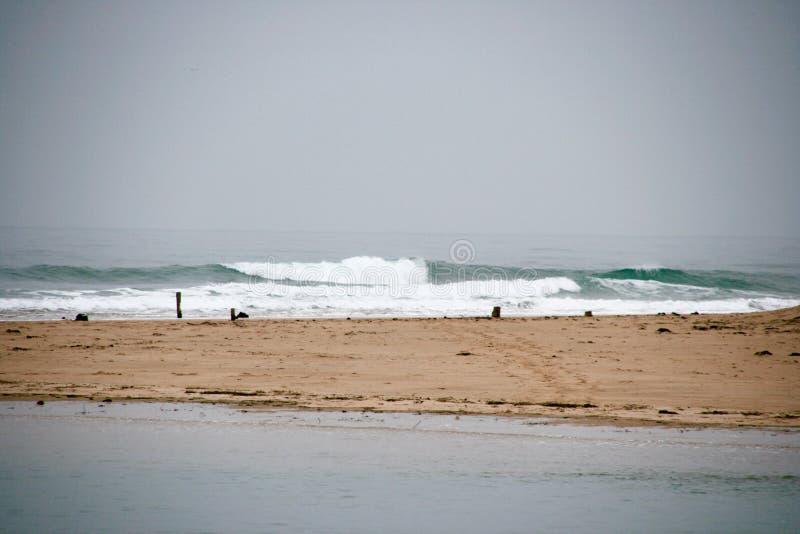 Spiaggia di inverno immagini stock