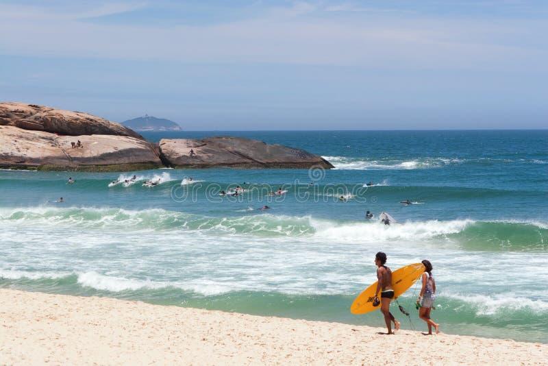 Spiaggia di Ipanema fotografia stock