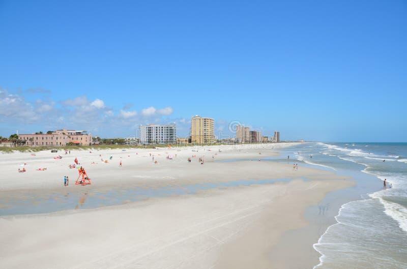 Spiaggia di Jacksonville immagini stock libere da diritti