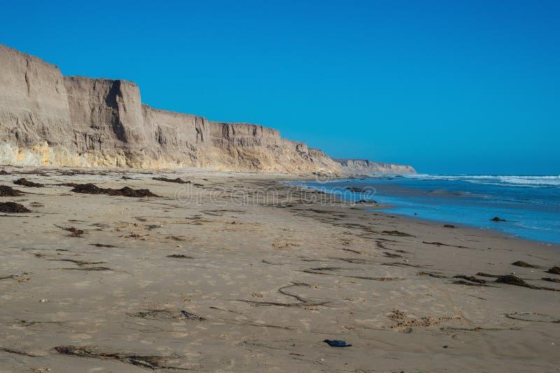 Spiaggia di Jalama vicino a Lompoc fotografia stock libera da diritti
