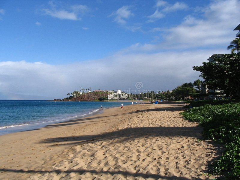 Spiaggia di Kaanapali - Maui, Hawai fotografie stock