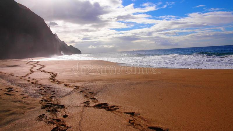 Spiaggia di Kalalau, Hawai immagini stock