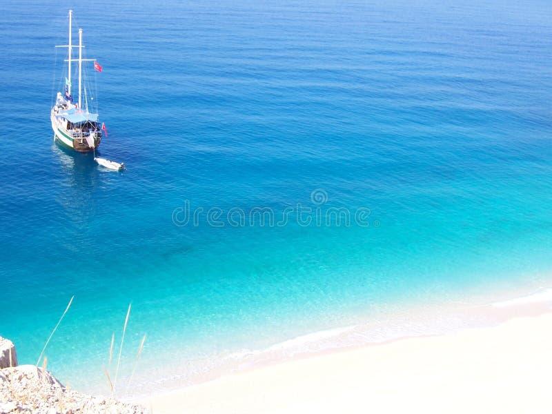 Spiaggia di Kalkan Kaputas fotografie stock libere da diritti