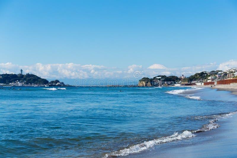 Spiaggia di Kamakura immagini stock