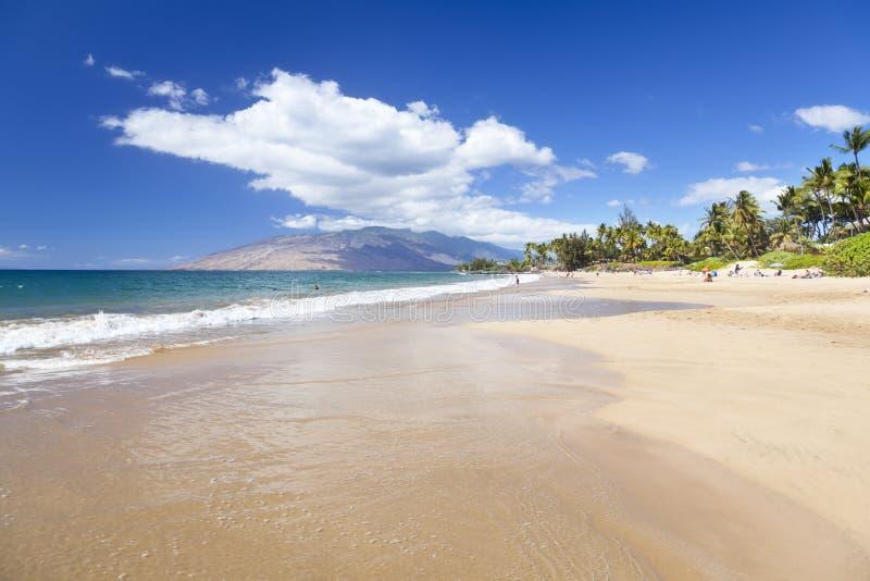 Spiaggia di Kamaole, Maui, Hawai immagine stock