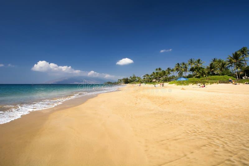 Spiaggia di Kamaole, riva del sud di Maui, Hawai immagine stock