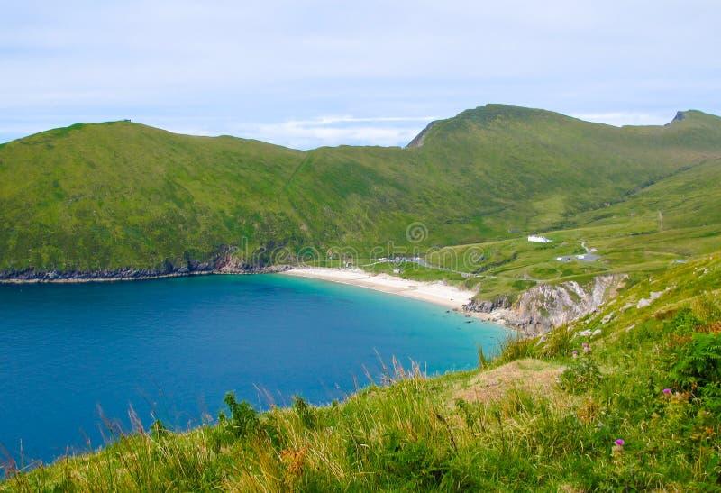 Spiaggia di Keem, isola di Achill, Irlanda immagine stock libera da diritti