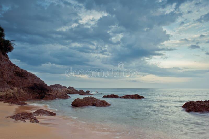 Spiaggia di Kemasik, Terengganu, Malesia immagine stock