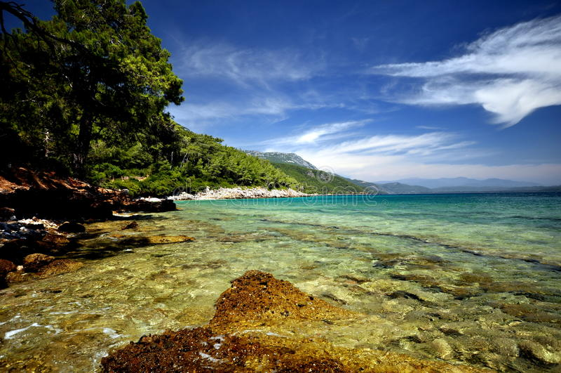 Spiaggia di Kemer fotografia stock libera da diritti