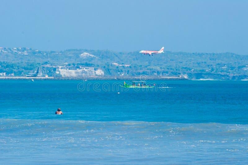 Spiaggia di Kuta, Bali, Indonesia, Sud-est asiatico fotografie stock libere da diritti