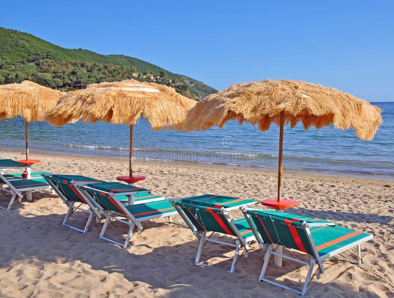 Spiaggia di Lacona, isola dell'Elba, Toscana, Italia fotografie stock