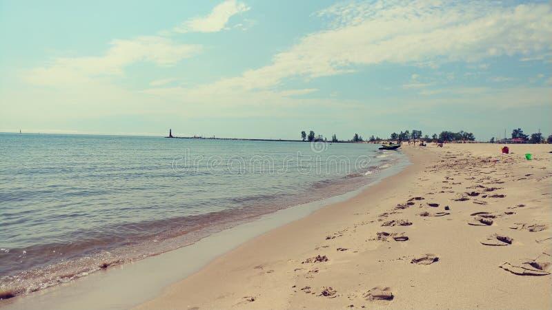Spiaggia di lago Michigan immagini stock