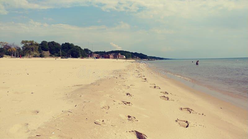 Spiaggia di lago Michigan fotografie stock libere da diritti