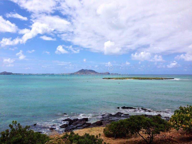 Spiaggia di Lanikai, Kailua, Hawai immagini stock