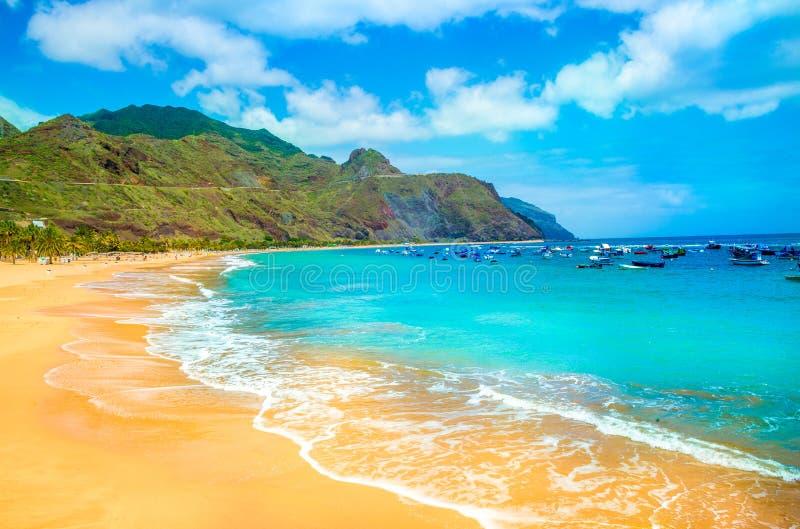 Spiaggia di Las Teresitas, Tenerife immagine stock libera da diritti