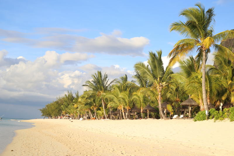 Spiaggia di Le morne immagine stock