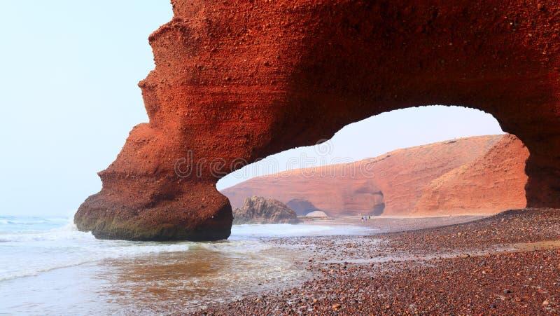 Spiaggia di Legzira, Marocco immagini stock libere da diritti