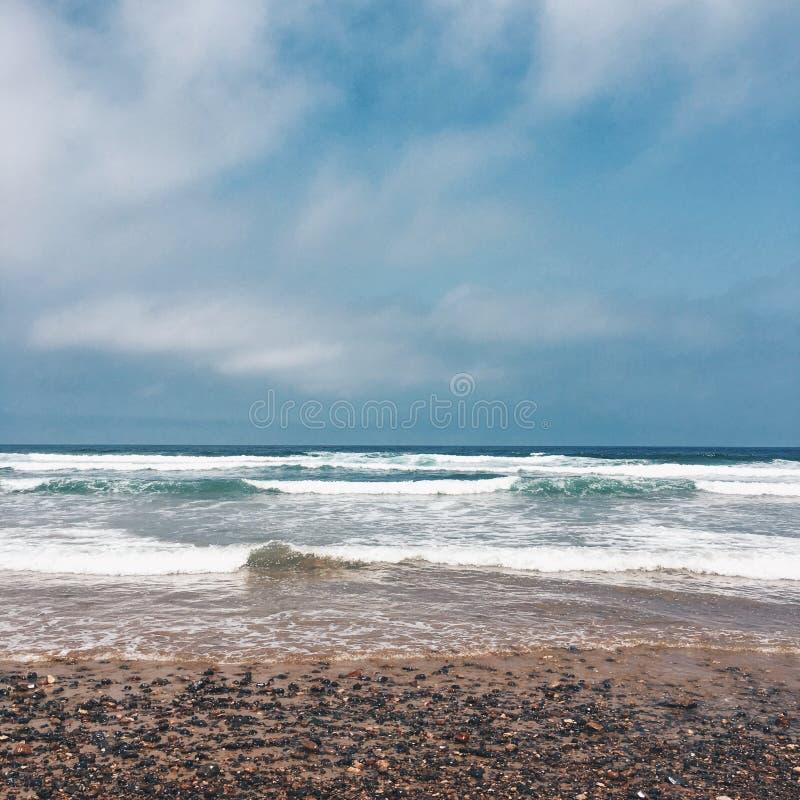 Spiaggia di Lezgira, Marocco immagine stock libera da diritti