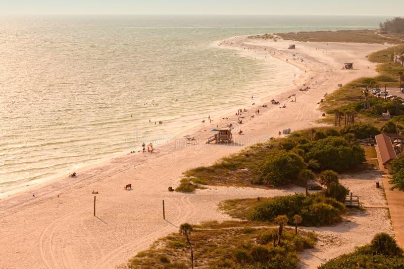 Spiaggia di Lido nel tasto di Siesta immagini stock libere da diritti