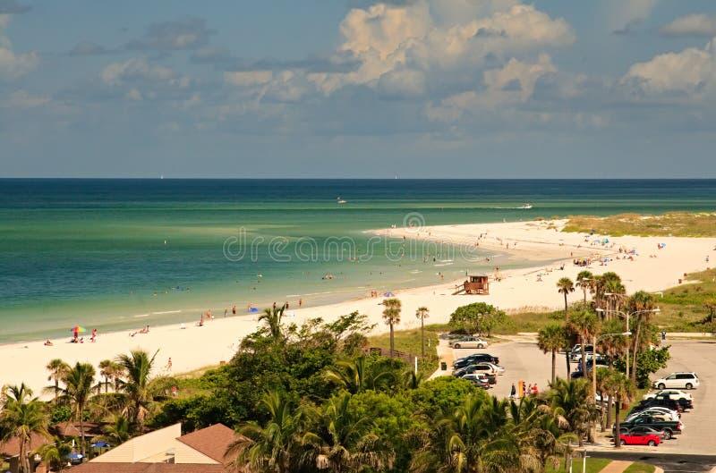 Spiaggia di Lido a Sarasota, Florida fotografie stock libere da diritti