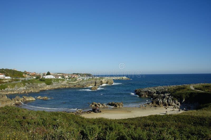 Spiaggia di Llanes immagine stock