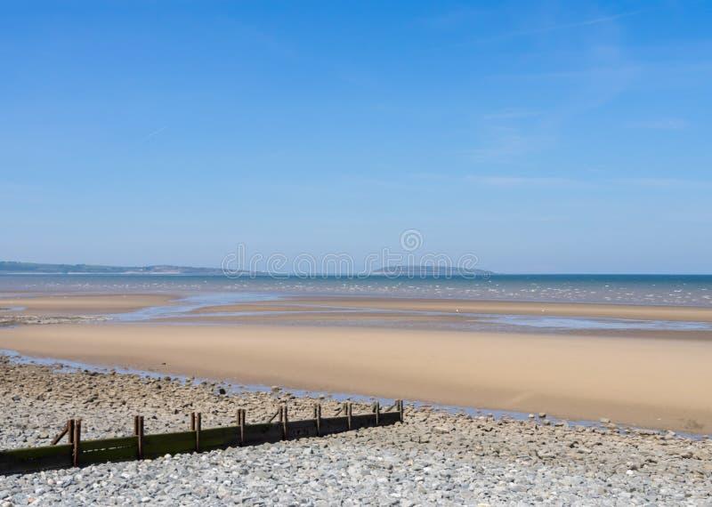 Spiaggia di Llanfairfechan immagini stock libere da diritti