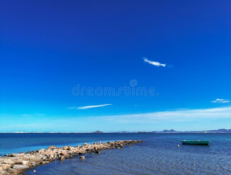 Spiaggia di los Narejos, vista sul mare in Spagna immagini stock libere da diritti