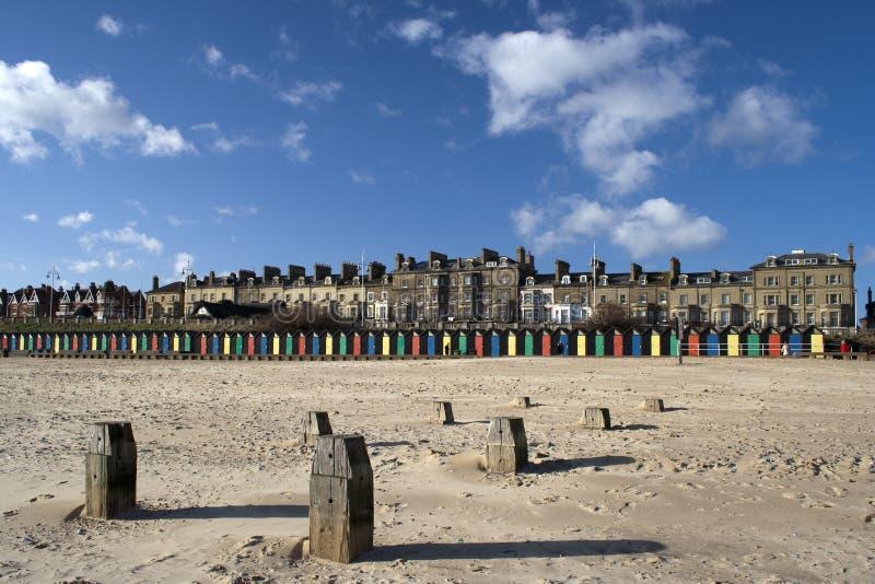 Spiaggia di Lowestoft, Suffolk, Inghilterra immagini stock