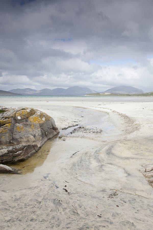 Spiaggia di Luskentyre, isola di Harris fotografia stock libera da diritti