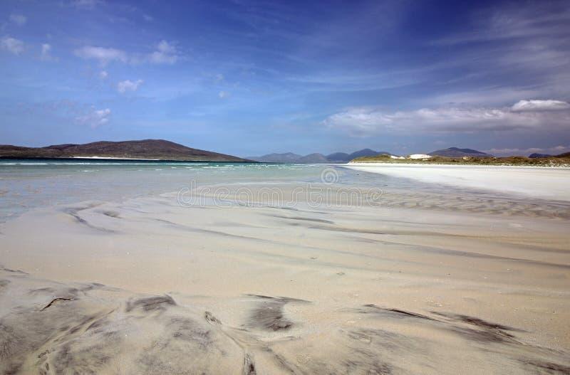 Spiaggia di Luskentyre, isola di Harris, Scozia fotografia stock libera da diritti