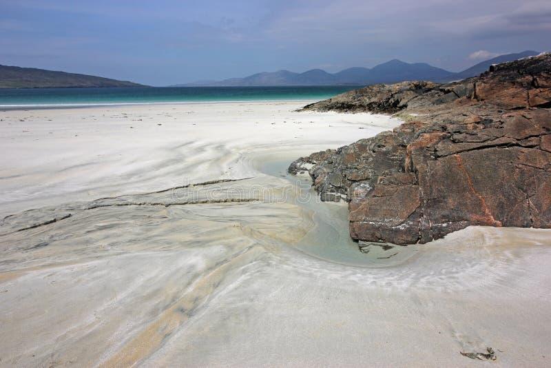 Spiaggia di Luskentyre, isola di Harris, Scozia fotografie stock libere da diritti