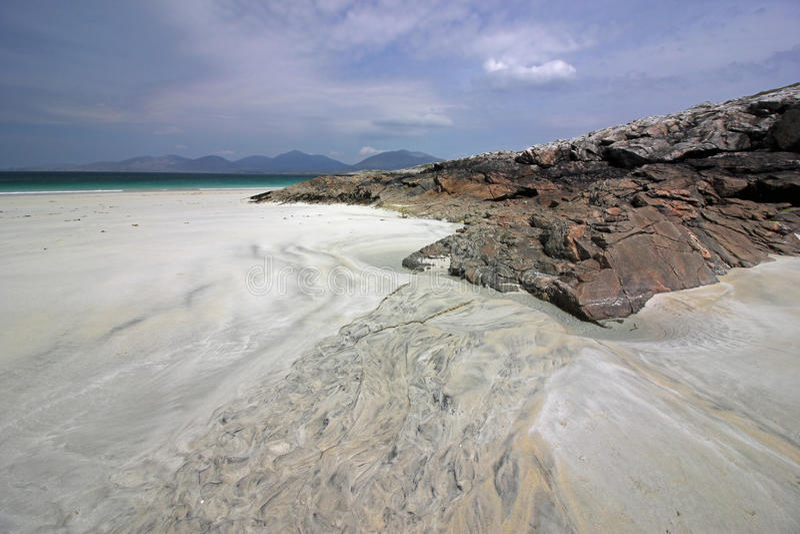 Spiaggia di Luskentyre, isola di Harris, Scozia immagine stock libera da diritti