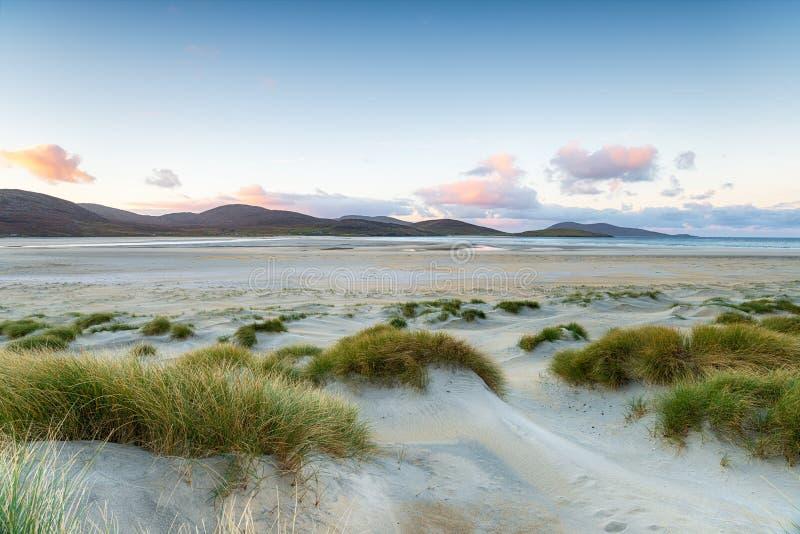 Spiaggia di Luskentyre sull'isola di Harris fotografia stock libera da diritti