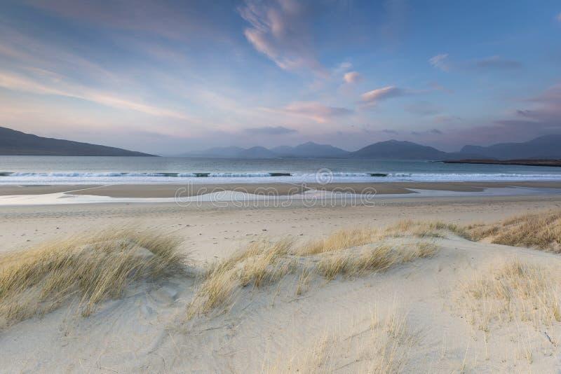 Spiaggia di Luskentyre sull'isola di Harris in Scozia immagini stock libere da diritti
