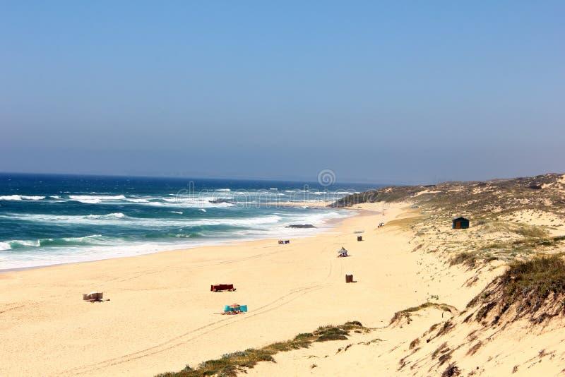 Spiaggia di Malhao, l'Alentejo, Portogallo immagini stock libere da diritti