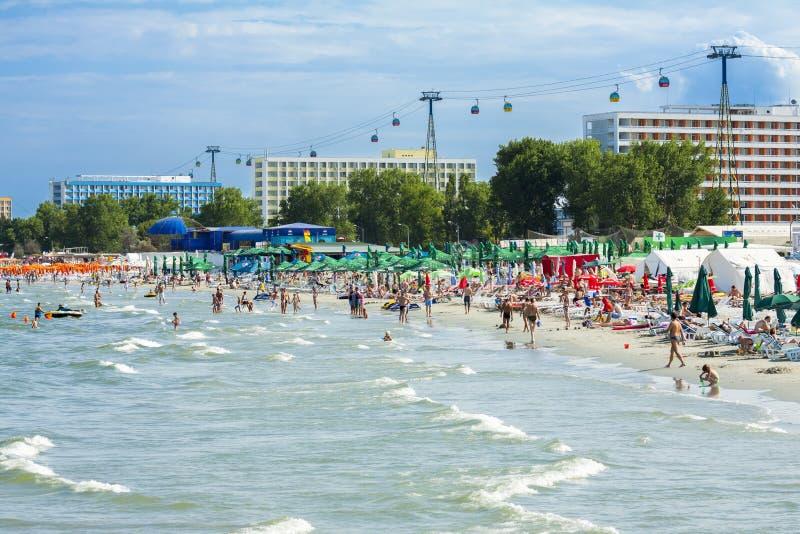 Spiaggia di Mamaia, Romania immagine stock libera da diritti