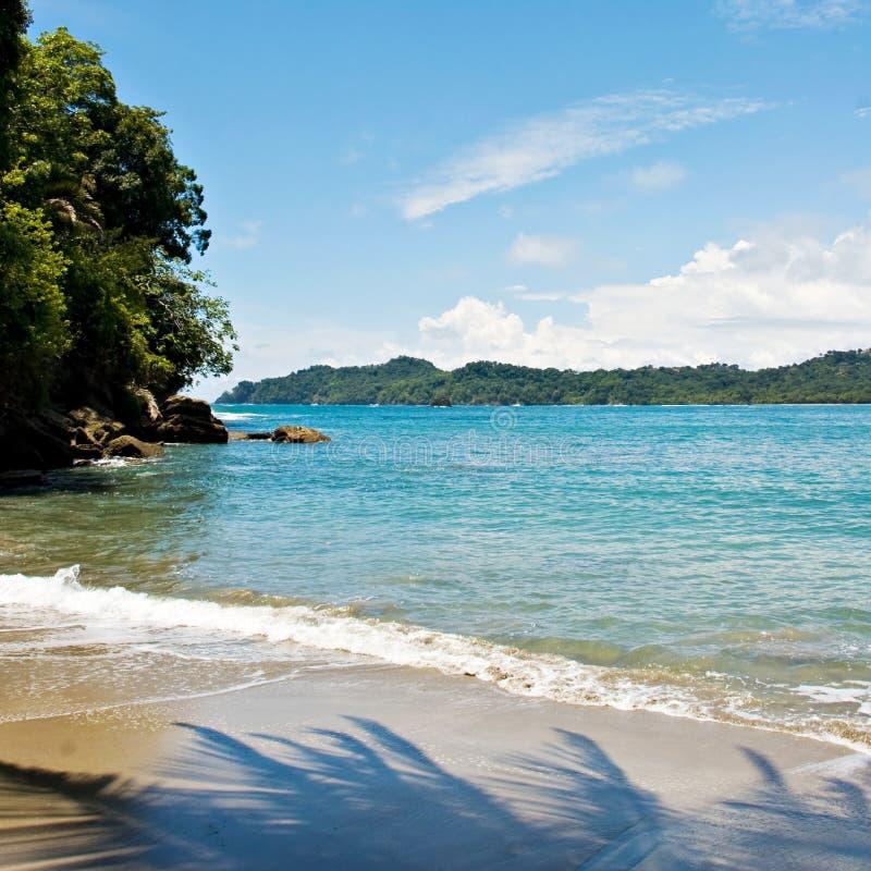 Spiaggia di Manuel Antonio fotografia stock libera da diritti