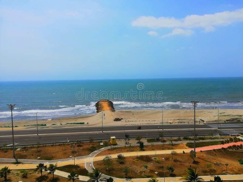 Spiaggia di Marbella Cartagine colombia immagini stock libere da diritti