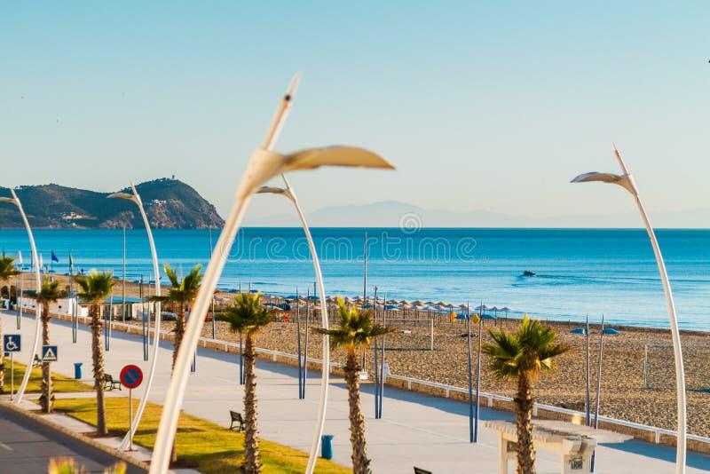 Spiaggia di Martil, Marocco fotografie stock
