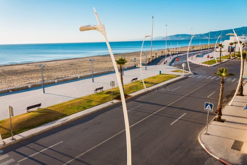 Spiaggia di Martil, Marocco immagini stock