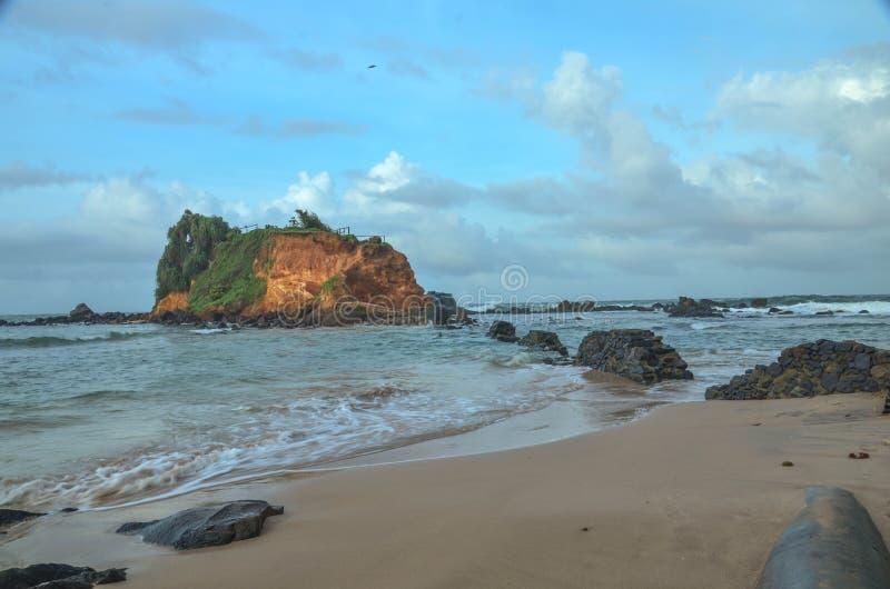 Spiaggia di Mirissa, Sir Lanka immagini stock libere da diritti
