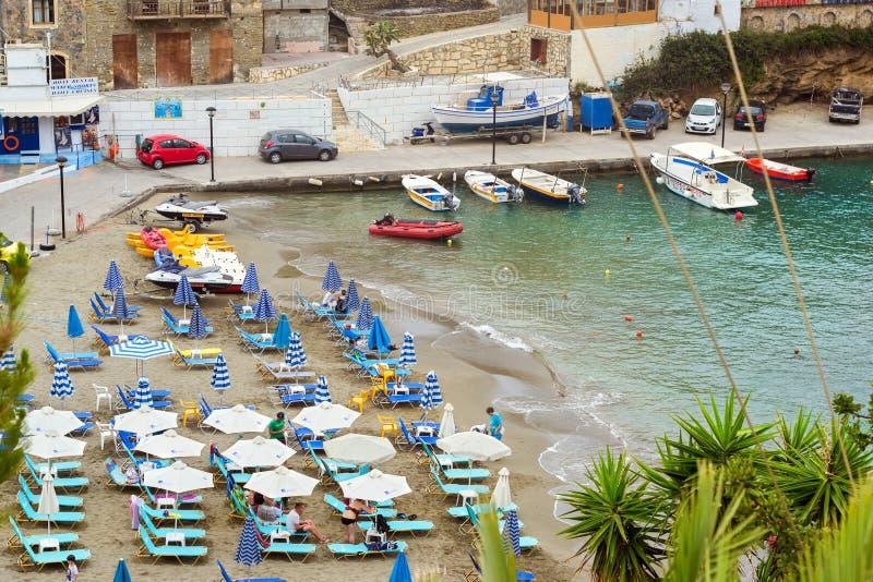 Spiaggia Di Mithos Nel Villaggio Bali, Creta Della Località Di ...