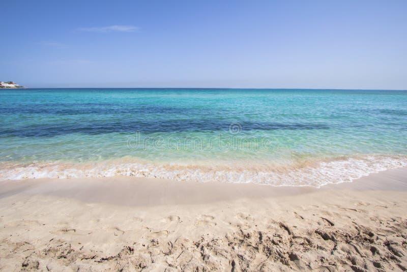 Spiaggia di Mondello, Sicilia, Italia fotografie stock libere da diritti