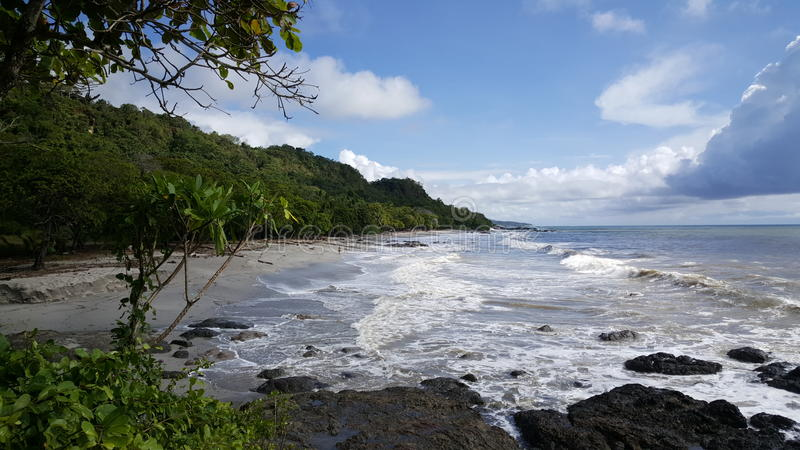 Spiaggia di Montezuma immagine stock libera da diritti