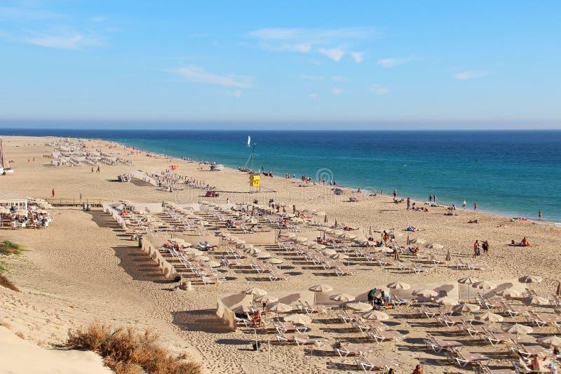 Spiaggia di Morro Jable, Fuerteventura, isole Canarie fotografia stock