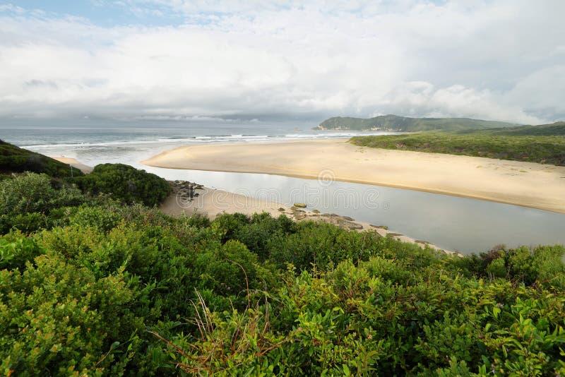 Spiaggia di Myoli in Sedgefield fotografie stock